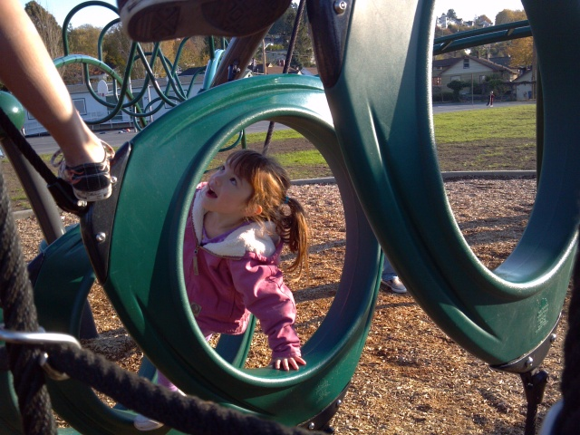 playing at the playground
