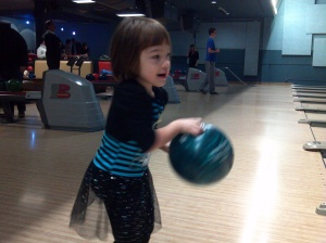 throwing the bowling ball