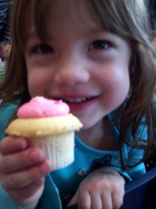 eating cupcakes