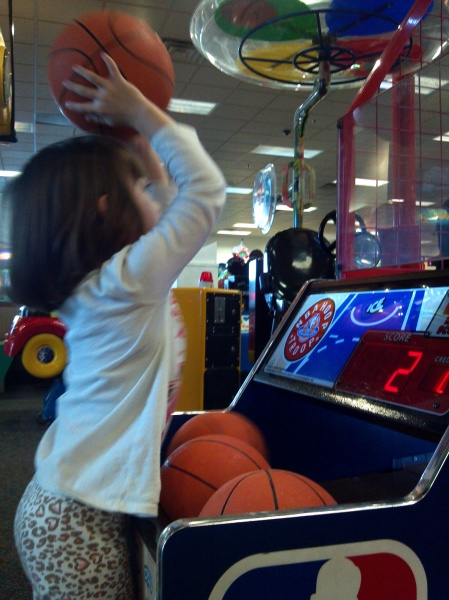 shooting more hoops at chuck e cheese