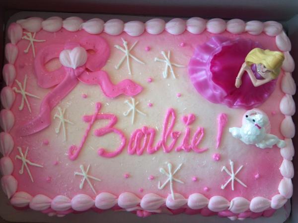 the barbie cake