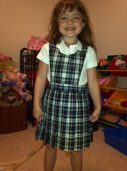In her new uniform